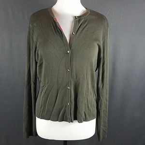 4/10- large silk Loft Cardigan